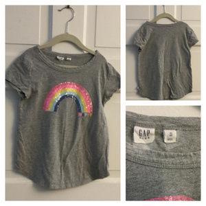 GAP Gray Top with Rainbow